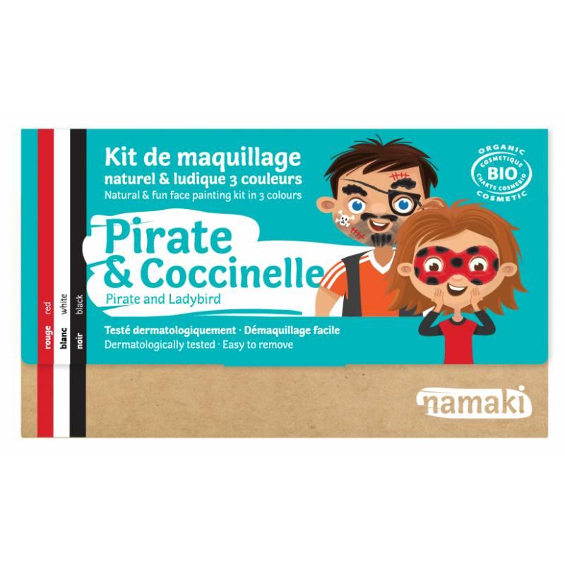 Kit de maquillage 3 couleurs Pirate & Coccinelle