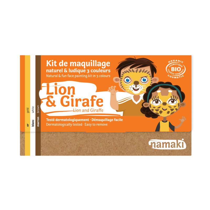 Lion & Giraffe 3-Color Face Painting Kit