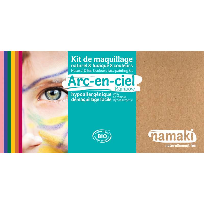 Rainbow 8-Color Face Painting Kit