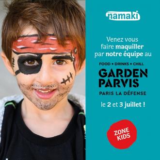 Faites vous maquiller par notre équipe avec vos enfants le 2 et 3 juillet lors de votre visite au Garden Parvis à Paris La Défense 🥳. Tous les produits utilisés seront naturels et bio pour prendre soin des peaux même les plus sensibles 🌱  Rendez-vous dès vendredi à partir de 11h30 à la Zone Kids 🧒 #GARDENPARVIS #PARISLADEFENSE
