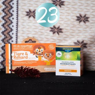 JOUR 23 - CONCOURS 🎄 Félicitations à @denisemorvan4780 qui remporte le lot 😍  Pour la 23ème case de notre calendrier, la marque @dietaroma vous offre un pack de microbiotiques pour renforcer le système immunitaire de vos bouts d'choux pendant l'hiver. Nous complétons ce lot avec un kit 3 couleurs Tigre & Renard 🎁  Pour participer :  ✨ Suivre les pages @namakicosmetics & @dietaroma ✨ Inviter 2 amis à participer  Tirage au sort Demain à 13H30.  Bonne chance les p'tits rennes 🦌