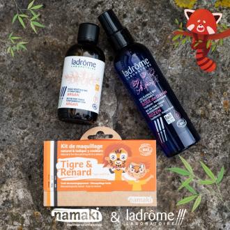 [CONCOURS] 🎉 Aujourd'hui c'est la journée mondiale des espèces menacées ! Alors pour l'occasion, nous avons voulu mettre en avant le Panda Roux qui est une espèce en voie de disparition. 🐼  On s'associe pour l'occasion avec @ladrome_laboratoire ! Une marque experte dans les produits naturels et bio à base de plantes médicinales 👌  Tentez de remporter : ✨ 1 Kit 3 couleurs Tigre & Renard pour reproduire le maquillage du Panda Roux ✨ 1 Huile végétale bio à l'argan pour se démaquiller ✨ 1 Eau florale bio à la Rose de Damas pour tonifier  Pour participer : 1.Être abonné aux deux comptes @namakicosmetics & @ladrome_laboratoire  2.Inviter 2 personnes à participer. 3.Partager en story ou en post en nous identifiant pour doubler vos chances !   🎉 Tirage au sort le 17/05  Bonne chance ! 🍀🍀🍀